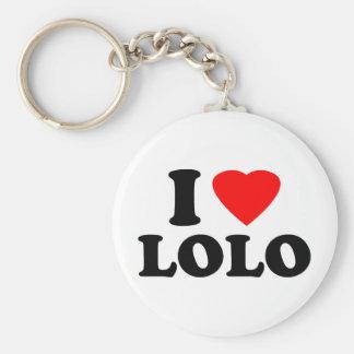 I Love Lolo Key Ring