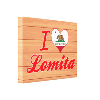 I Love Lomita, California Canvas Prints
