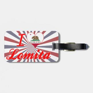 I Love Lomita California Tag For Bags