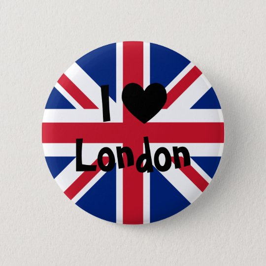 I Love London 6 Cm Round Badge