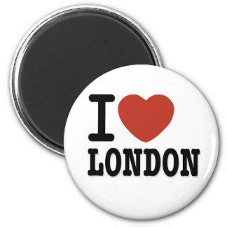 I LOVE LONDON 6 CM ROUND MAGNET