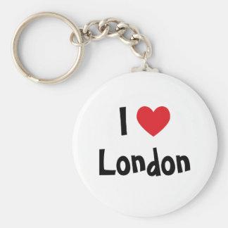 I Love London Basic Round Button Key Ring