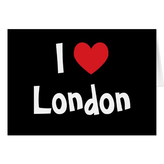 I Love London Card