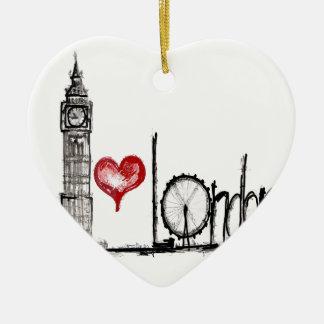 I Love London Christmas Ornament