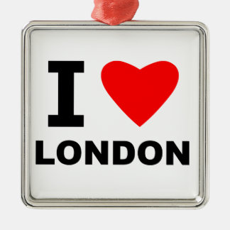 I Love London Christmas Ornament