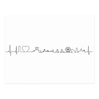 I love London (extraordinary ecg style) souvenir Postcard