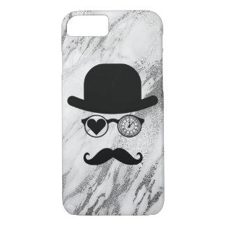 I Love London Moustache Case Marble Gray