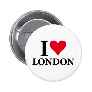 I LOVE LONDON on white.png 6 Cm Round Badge