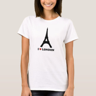 I love London (Paris?) Black Design T-Shirt