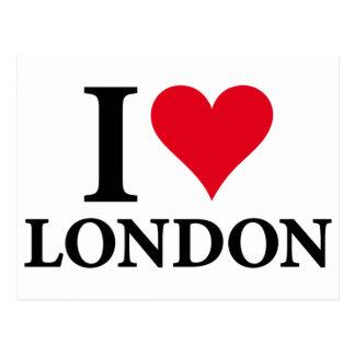 I LOVE LONDON POSTCARD