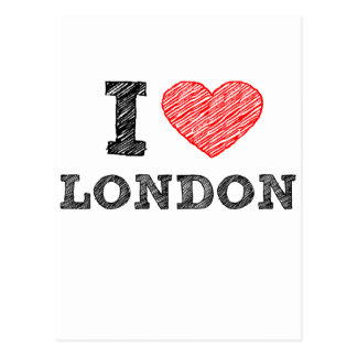 I Love London sketch souvenir Postcard