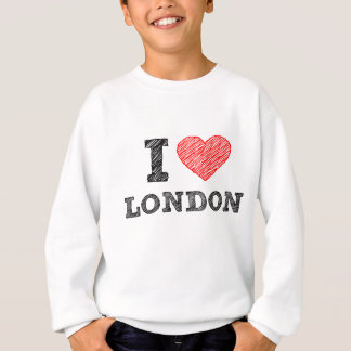 I Love London sketch souvenir Sweatshirt