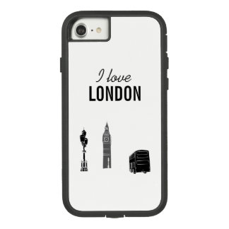 I love London White Cool Modern Black Contrast Case-Mate Tough Extreme iPhone 8/7 Case