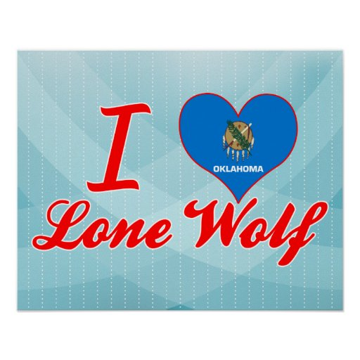 I Love Lone Wolf, Oklahoma Print