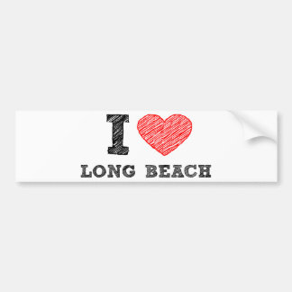 I Love Long Beach Car Bumper Sticker