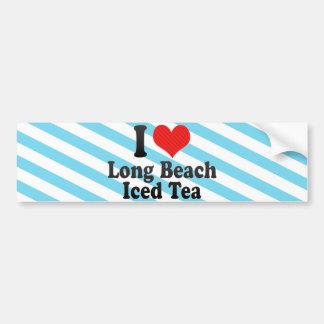 I Love Long Beach+Iced Tea Bumper Stickers