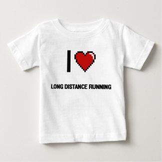 I Love Long Distance Running Digital Retro Design Shirt