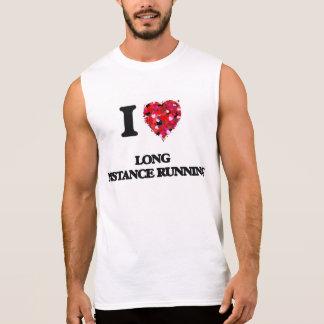 I Love Long Distance Running Sleeveless Shirts