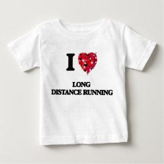 I Love Long Distance Running Tee Shirt