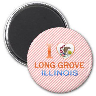I Love Long Grove, IL Fridge Magnets
