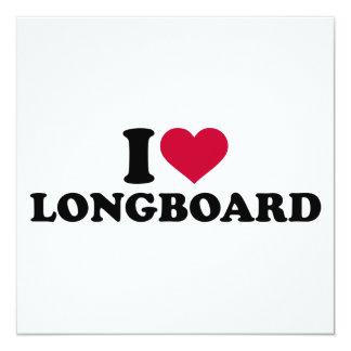 I love Longboard 13 Cm X 13 Cm Square Invitation Card