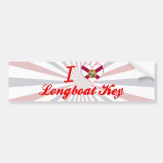 I Love Longboat Key, Florida Bumper Stickers