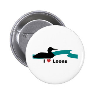 I Love Loons Pinback Buttons