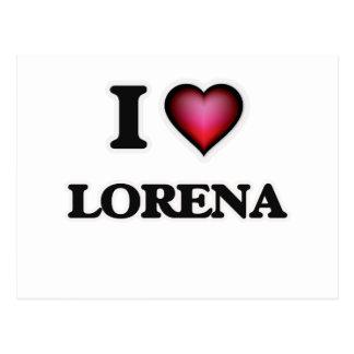 I Love Lorena Postcard