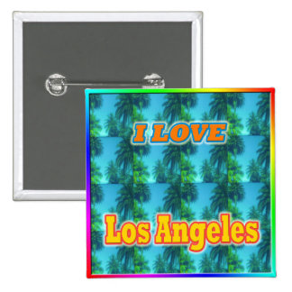 I LOVE Los Angeles 16 Palms Button