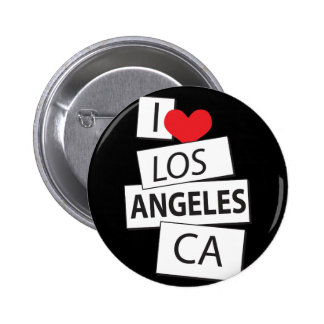 I Love Los Angeles CA 6 Cm Round Badge