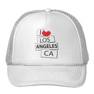 I Love Los Angeles CA Hats