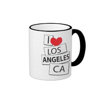 I Love Los Angeles CA Coffee Mugs