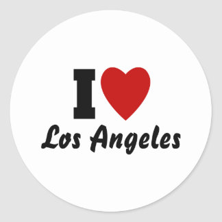 I Love Los Angeles Classic Round Sticker