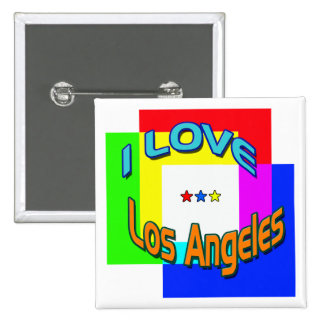 """""""I LOVE Los Angeles Coloring 1"""" Button"""