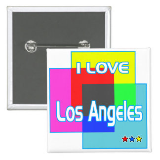 """I LOVE Los Angeles Coloring 2"" Button"