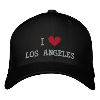 I LOVE LOS ANGELES EMBROIDERED BASEBALL CAPS