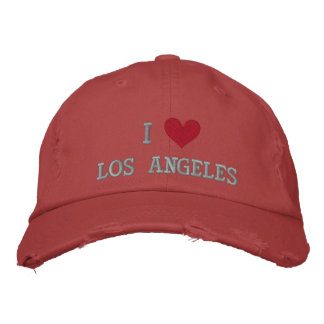 I LOVE LOS ANGELES EMBROIDERED CAP