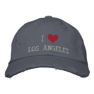 I LOVE LOS ANGELES EMBROIDERED BASEBALL CAP