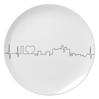 I love Los Angeles in an extraordinary ecg style Plate
