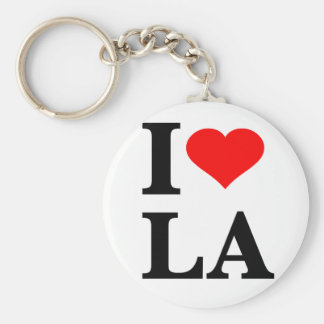 I Love Los Angeles Basic Round Button Key Ring