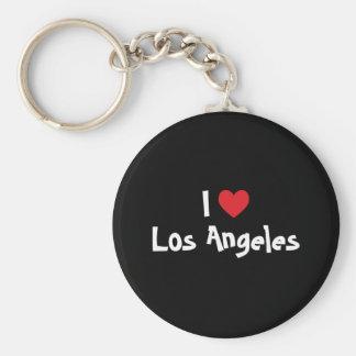 I Love Los Angeles Basic Round Button Key Ring