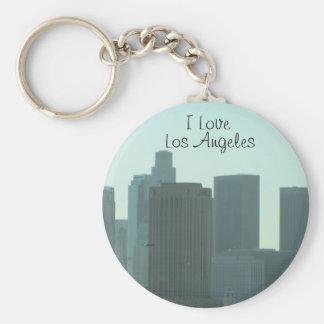 I Love Los Angeles Round Keychain