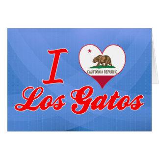 I Love Los Gatos, California Card