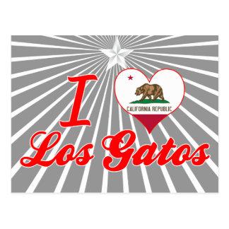 I Love Los Gatos, California Postcard