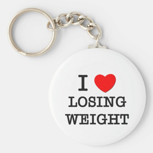 I Love Losing Weight Key Chain