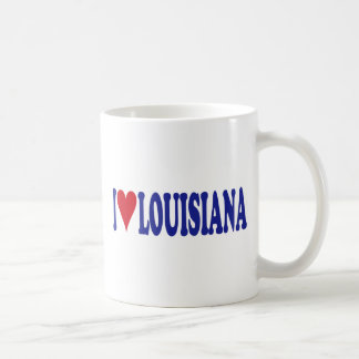 I Love Louisiana Basic White Mug