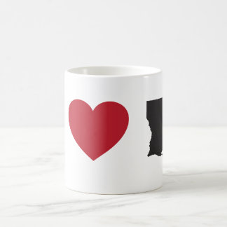 I Love Louisiana Basic White Mug
