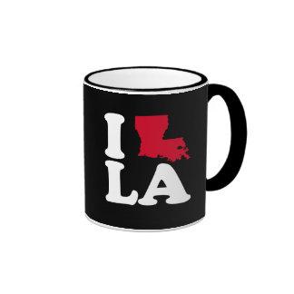 I LOVE LOUISIANA - CLASSIC - Map Design -.png Ringer Mug