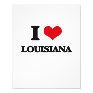 I Love Louisiana Flyer Design