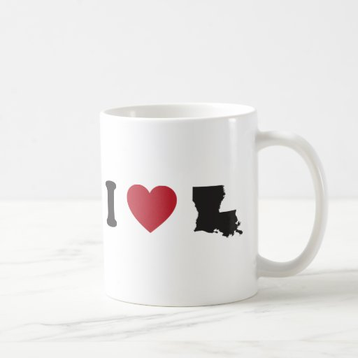 I Love Louisiana Coffee Mugs